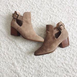 {Sole Society} Olive Cut Out Booties
